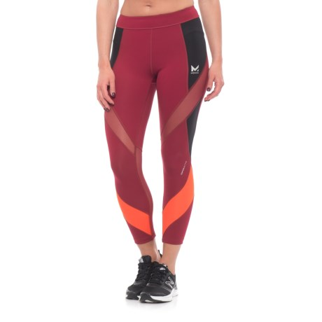 Mission Aerial Crop Leggings (For Women) in Tibetan Red/ Moonless Night/ Cherry Tomato
