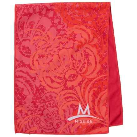 Mission EnduraCool® Cooling Towel - UPF 50+ in Peony Coral - Closeouts