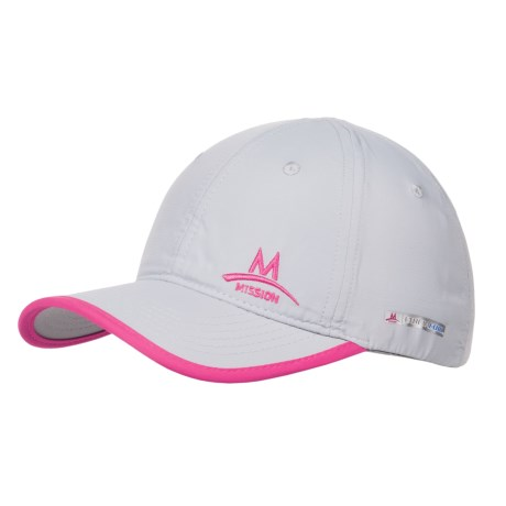 Mission EnduraCool® Instant Cooling Hat - UPF 50 (For Men and Women) in Grey/Pink