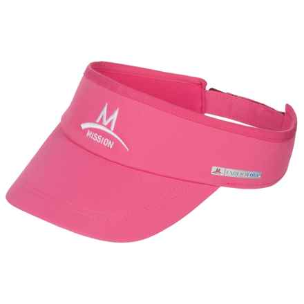 Mission EnduraCool® Instant Cooling Visor - UPF 50 (For Men and Women) in Pink - Closeouts