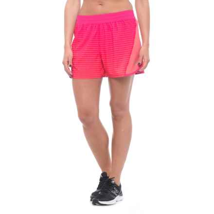 "Mission Ion Training Shorts - UPF 50, 4"" (For Women) in Beetroot Purple/Calypso Coral Ombre - Closeouts"