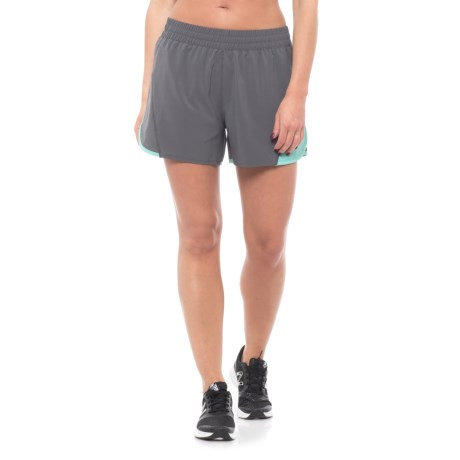 """Mission Ion Training Shorts - UPF 50, 4"""" (For Women) in Iron Gate/Pool Blue"""