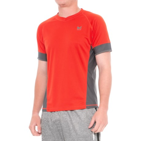 Mission Proton Training T-Shirt - Short Sleeve (For Men) in Fiery Red/ Iron Gate