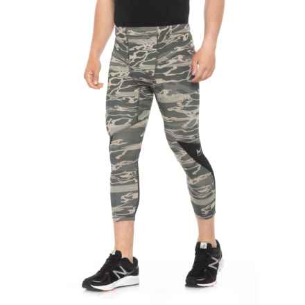 Mission Transformer 3/4 Running Tights (For Men) in Moonless Night Camo - Closeouts
