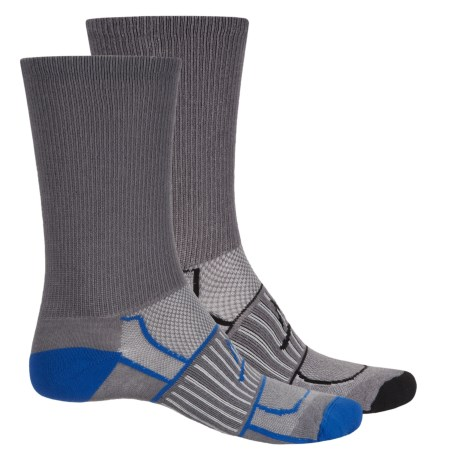 Mission Vapor Active High-Performance Socks - 2-Pack, Crew (For Men) in Grey/Black/Grey/Royal