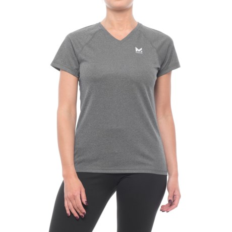 Mission VaporActive Alpha Shirt - Short Sleeve (For Women) in Heather Grey