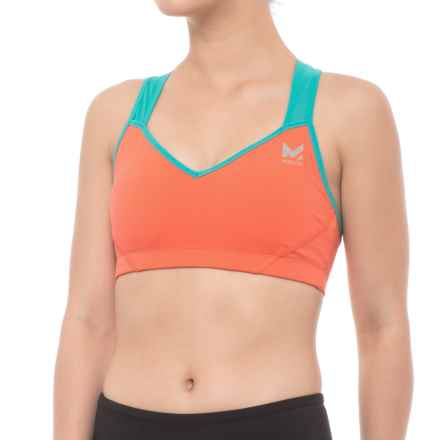 Mission VaporActive Celsius Sports Bra - Medium Impact (For Women) in Emberglow/ Viridian Green - Closeouts