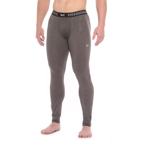 Mission VaporActive Compression Base Layer Tights (For Men) in Carbon