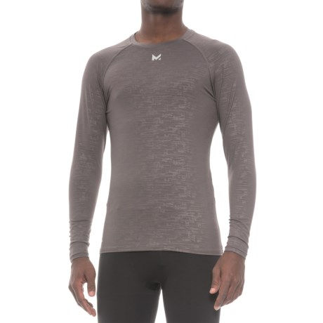 Mission VaporActive Compression Base Layer Top - Long Sleeve (For Men) in Carbon