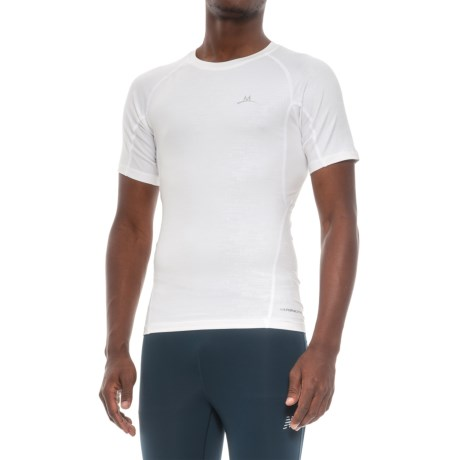 Mission VaporActive High-Performance Base Layer Top - Short Sleeve (For Men) in White