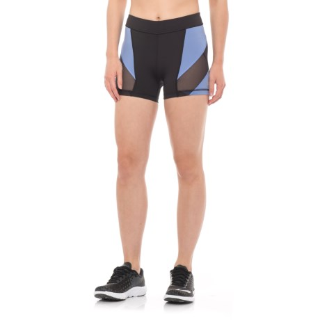 """Mission Voltage Compression Shorts - 3"""" (For Women) in Moonless Night/ English Manor"""