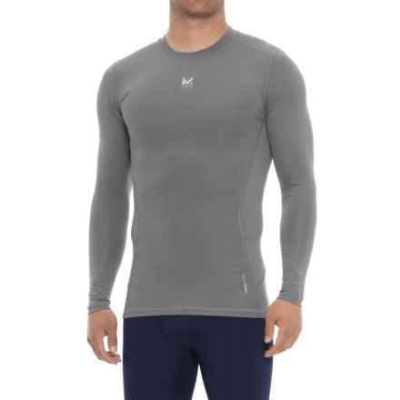 Mission Voltage Compression T-Shirt - Long Sleeve (For Men) in Quiet Shade - Closeouts