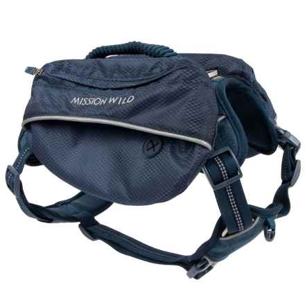 Mission Wild Pac Heights Commuter Harness Dog Pack in Blue - Closeouts