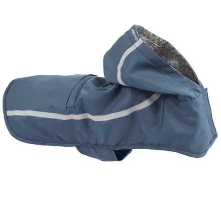 """Mission Wild Pacific Packable Dog Rain Jacket - 21-24"""" Girth in Blue Reflective - Closeouts"""