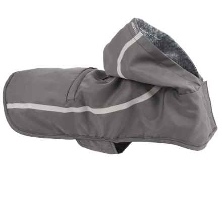 "Mission Wild Pacific Packable Dog Rain Jacket - 21-24"" Girth in Gray Reflective - Closeouts"
