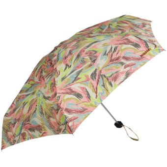 Missoni Telescopic Shaft Manual Umbrella in Multi Feather Print