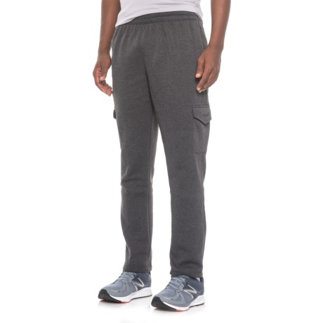 Mitre Fleece Cargo Pants (For Men) in Charcoal Heather