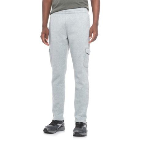 mitre Fleece Cargo Pants (For Men) in Grey Heather