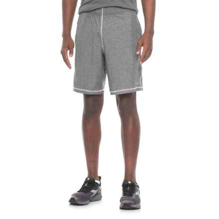Mitre Space-Dye Active Shorts (For Men) in Black Space Dye/White - Closeouts