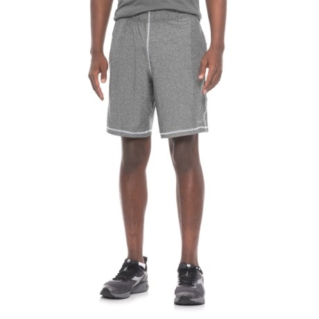 Mitre Space-Dye Active Shorts (For Men) in Black Space Dye/White