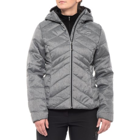 Mixed Chevron Quilted Puffer Jacket - Insulated