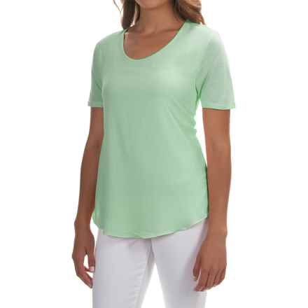 Mixed-Media Georgette Shirt - Short Sleeve (For Women) in Mint - 2nds