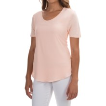 Mixed-Media Georgette Shirt - Short Sleeve (For Women) in Pink - 2nds