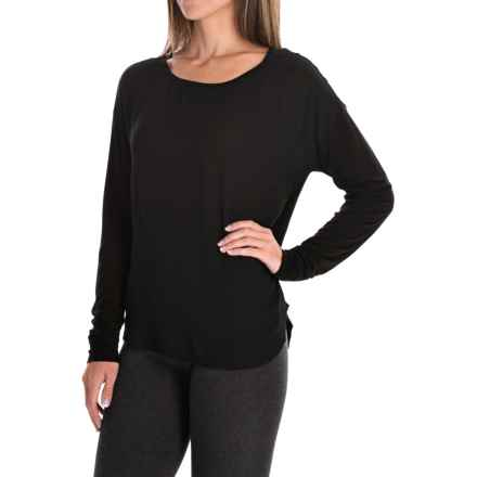 Mixed Media Shirt - Long Sleeve (For Women) in Black - 2nds