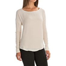 Mixed Media Shirt - Long Sleeve (For Women) in Winter White - 2nds