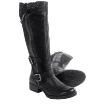 Miz Mooz Holden Knee-High Leather Boots (For Women) in Black - Closeouts