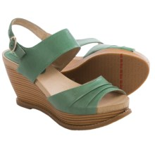 Miz Mooz Ruthy Wedge Sandals - Leather (For Women) in Green - Closeouts