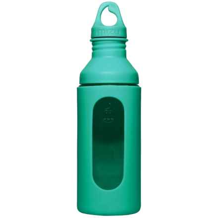 Mizu G7 Glass Water Bottle with Silicone Sleeve in Mint - Closeouts