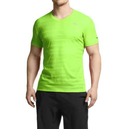 Mizuno Body Map T-Shirt - Short Sleeve (For Men) in Green Gecko - Closeouts