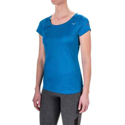 Mizuno Body Map T-Shirt - Short Sleeve (For Women) in Blue Sapphire - Closeouts