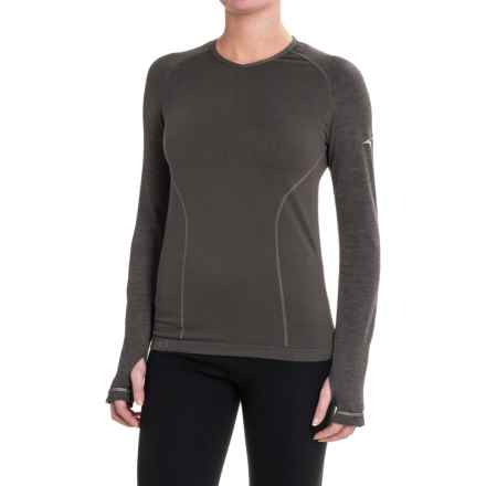 Mizuno Breath Thermo® Shirt - Long Sleeve (For Women) in Dark Shadow - Closeouts