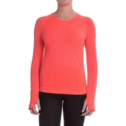 Mizuno Breath Thermo® Shirt - Long Sleeve (For Women) in Firey Coral - Closeouts