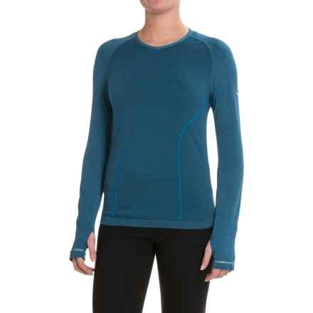 Mizuno Breath Thermo® Shirt - Long Sleeve (For Women) in Saphire Blue - Closeouts