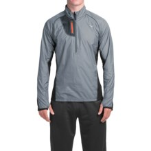 Mizuno Breath Thermo Windtop Shirt - Zip Neck, Long Sleeve (For Men) in Dark Slate/Black - Closeouts