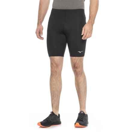 Mizuno Core Mid Tights (For Men) in Black - Closeouts