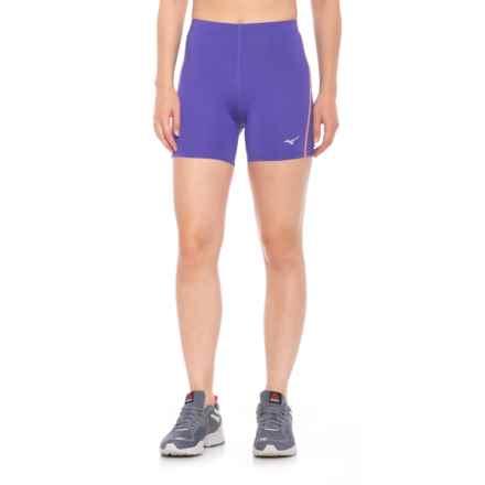 Mizuno Core Short Tights (For Women) in Purple/Orange - Closeouts