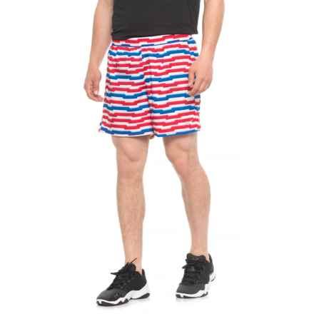 "Mizuno Core SQ Shorts - Built-In Brief, 5.5"" (For Men) in Red/Directoire Blue - Closeouts"