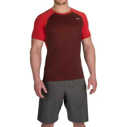 Mizuno Discover T-Shirt - Short Sleeve (For Men) in Chinese Red - Closeouts