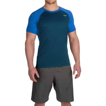 Mizuno Discover T-Shirt - Short Sleeve (For Men) in Sky Blue - Closeouts