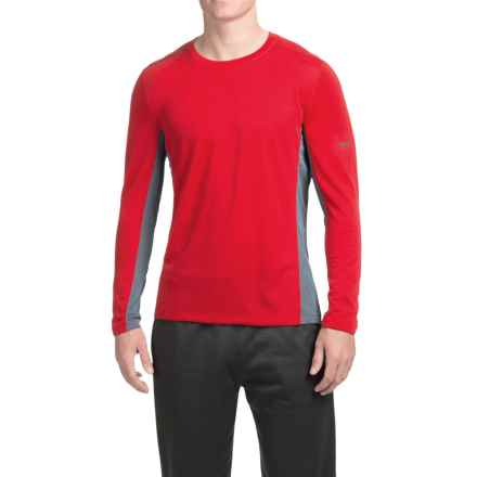 Mizuno Evolution Shirt - Long Sleeve (For Men) in Red/Charcoal/Shadow - Closeouts