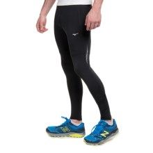 Mizuno Featherweight Running Tights (For Men) in Black/Charcoal - Closeouts
