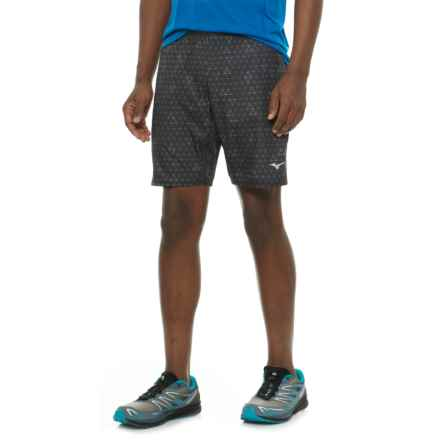 Mizuno Helix Printed Square 8.5 Shorts (For Men) in Black/Tornado - Closeouts
