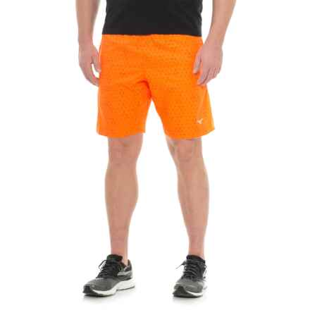 Mizuno Helix Printed Square 8.5 Shorts (For Men) in Clownfish/Tornado - Closeouts