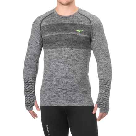 Mizuno Helix Shirt - Long Sleeve (For Men) in Black - Closeouts