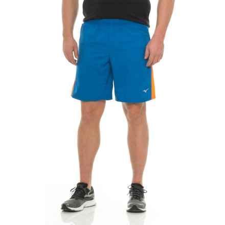 Mizuno Helix Square 8.5 Waterfall Shorts (For Men) in Nautical Blue/Clownfish - Closeouts