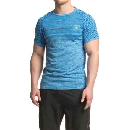Mizuno Helix T-Shirt - Short Sleeve (For Men) in Skydiver - Closeouts